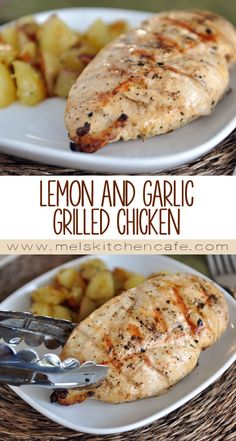 This Lemon and Garlic Grilled Chicken is packed full of flavor and is a summer family favorite.