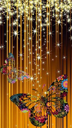 Discover thousands of images about Wallpaper.By Artist Unknown. Bling Wallpaper, Butterfly Wallpaper, Butterfly Flowers, Love Wallpaper, Galaxy Wallpaper, Beautiful Butterflies, Wallpaper Backgrounds, Madame Butterfly, Paper Butterflies