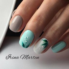 Are you looking for a trend for short nails in Are you struggling to make good-looking manicures without long nails? Stylish Nails, Trendy Nails, Nagellack Design, Pretty Nail Art, Minimalist Nails, Pedicure Nails, Pedicure Ideas, Dream Nails, Blue Nails
