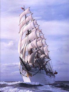 """Japan's tall ship """"Nippon Maru"""""""