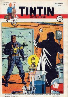 Le Journal de Tintin - Edition Belge - N° 126 - 1949-07 - Jeudi 17 Février 1949 - Couverture : Edgar P. Jacobs