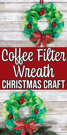 Coffee Filter Wreath Christmas Craft for Kids This Coffee Filter Wreath is a cute Christmas craft for kids. Transform coffee filters and a paper plate into a colorful wreath decoration. Preschool Christmas, Toddler Christmas, Christmas Activities, Christmas Crafts For Kids, Preschool Crafts, Toddler Crafts, Holiday Crafts, Christmas Diy, Christmas Wreaths