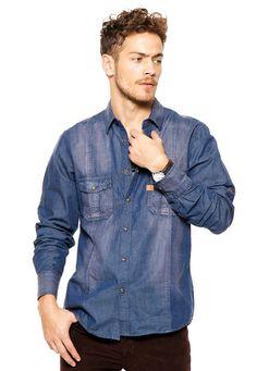 Me encanta! Miralo! Camisa Azul Key Biscayne Oxylar  de Key Biscayne en Dafiti