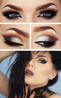 Sombra de ojos, dos colores