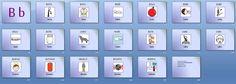 MATERIALES - Iniciación a la lectura.  Conjunto de materiales de apoyo a la lectura divididos por letras (consonantes) o grupos silábicos. http://arasaac.org/materiales.php?id_material=984