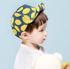 """Introducing the new,""""Lemon Cap,"""" available now at LULUBYE. Perfect cap that is stylish, hip, and cool for your child to sport. Grab this beanie for a gift for a loved one and we offer it in 2 colors/s"""