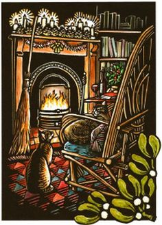 Yule. -  what our Yule looks like. Cats fighting over a chair.