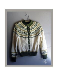 ON SALE 1960s wool knit cardigan sweater s m by FiregypsyVintage, $52.94