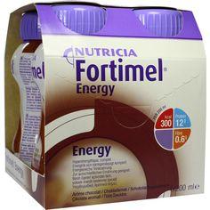 FORTIMEL Energy Schokoladengeschmack:   Packungsinhalt: 4X200 ml Flüssigkeit PZN: 01125413 Hersteller: MCM KLOSTERFRAU…