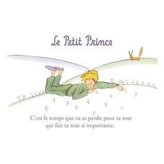 Carte postale Le Petit Prince - Le temps perdu pour ta rose… 1