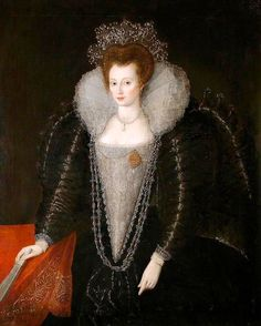 ca. 1595 Catherine Killigrew by ? (Colchester and Ipswich Museums Service, specific location unknown to gogm) | Grand Ladies | gogm
