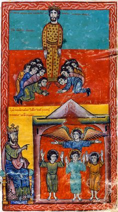 Adoration Of The Statue And The Hebrews In The Furnace | Beatus of Liébana | Las Huelgas Apocalypse | 1220 | The Morgan Library & Museum