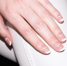23 Fall Nail Designs You're Going to Fall In Love With: DOUBLE LINES: Give your French tip a sophisticated and polished (pun intended) update.  See more at Alicia T. Nails.