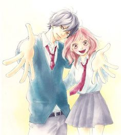Confirmado anime do shoujo Ao Haru Ride em 2014 Futaba Y Kou, Futaba Yoshioka, Orange Anime, Sailor Moon, Ao Haru Ride Kou, Tanaka Kou, Best Romance Anime, Romance Manga, Blue Springs Ride