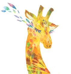 giraffe art artwork