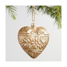 Cost Plus World Market Gold and Red Glass Heart Ornaments Set of 2 ($9.98) ❤ liked on Polyvore featuring home, home decor, holiday decorations, gold, cost plus world market, glitter glass ornaments, gold ornaments, red home decor and glass ornament set