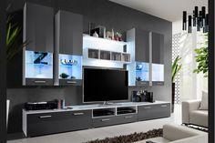 Modern interior design for amazing apartment Tv Unit Design, Tv Wall Design, Hall Design, Modern Tv Room, Modern Tv Wall Units, Living Room Shelves, Living Room Tv, Vr Room, Modern Furniture