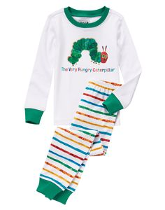 """Check out Gymboree's collection of pajamas with illustrations from Eric Carle's books. Sizes 6 months - 12 years. The classic """"The Very Hungry Caterpillar"""" and so many more!"""