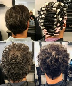 Loose Perm Short Hair, Curly Perm, How To Curl Short Hair, Natural Hair Regimen, Natural Hair Growth, Natural Hair Styles, Perm Curls, Perm Hair, Hair Perms