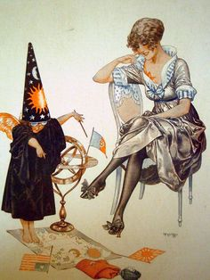The Little Astrologer ~ Chéri Hérouard for La Vie Parisienne c.1917