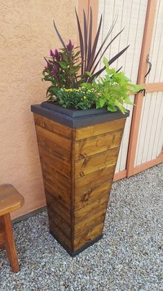 Pin by michael klinicki on build your own tall vertical tapered tower pot do it yourself framing system for building a tall vertcial tapered planter pot solutioingenieria Images