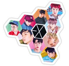 High quality Exo gifts and merchandise. Inspired designs on t-shirts, posters, stickers, home decor, and more by independent artists and designers from around the world. Exo Stickers, Tumblr Stickers, Printable Stickers, Cute Stickers, Laptop Stickers, Exo Kokobop, Kpop Exo, Baekhyun, Kpop Logos