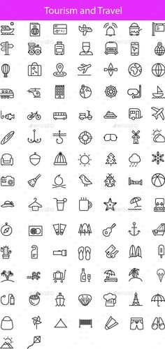 #Travel And #Tourism Line Icons