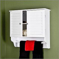 Nassau White Wall Mount Bathroom Storage Cabinet