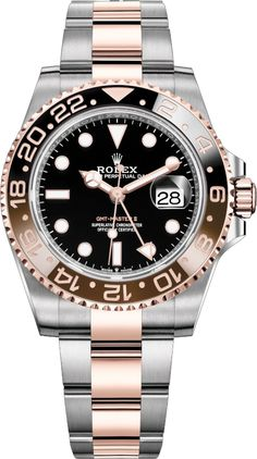 b62f2dc6ccd Discounted Rolex Oyster Perpetual GMT-Master II Rose Gold with Steel Men s  Luxury Watch - Watch for Men - Guaranteed Authentic