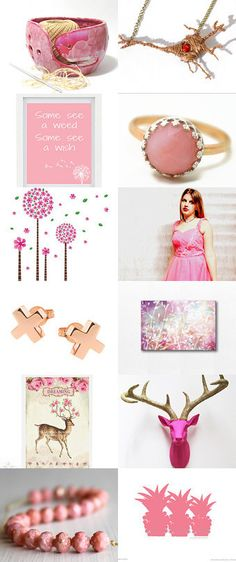 Gold and Pink by Anna Ilinykh on Etsy--Pinned with TreasuryPin.com