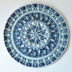 Mint Coffee Mandala Potholder  crochet pattern by Lilla Bjorn Crochet