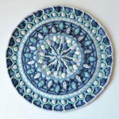 Mint Coffee Mandala Potholder  crochet pattern by Lilla Bjorn Crochet