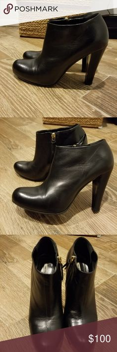 550f002acb9 Authentic Miu Miu leather booties