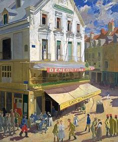 The Athenaeum - Dieppe (Sir William Orpen, R.A., R.H.A. - )