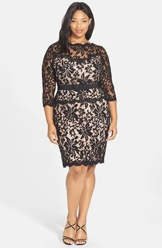 Tadashi+Shoji+Illusion+Lace+Sheath+Dress+available+at+#Nordstrom
