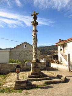 Cruceiro esmoleiro do Santo Cristo da Saúde, San Cibrao de Ribarteme (Pontevedra) / Patrimonio Galego