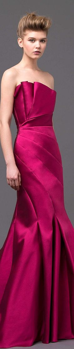 stunning color and interesting lines ~ Alberta Ferretti Collection  Spring 2015