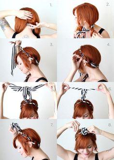 tuto coiffure cheveux mi long, étapes à suivre pour tresser ses cheveux avec un ruban, coiffure avec frange et meches devant