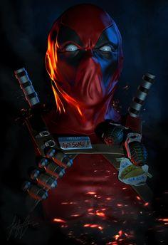 Deadpool - by Jonathan Straughan | #comics #marvel #deadpool