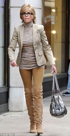 "Jane Fonda at age 73. She admits to having had plastic surgery because she wanted to look more like the way she felt. :: ""She appeared on the Today Show with Matt Lauer and spoke about her decision to have plastic surgery. 'I just decided I wanted to buy myself some time and look more like how I feel,' said Fonda..."