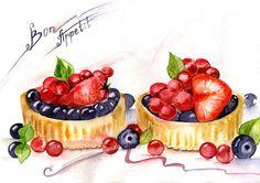 Food by Olga Gridneva, via Behance