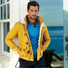 Guy Style / David Gandy for Selected for Homme, Shot on location in Los Angeles. Hair by Larry King. Fashion Models, Mens Fashion, Fashion Trends, Casual Outfits, Men Casual, David James Gandy, Dolce E Gabbana, Sport Coat, Sexy Men