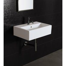 "View the Bissonnet 20150 Area Boutique Ice 60 24"" Bathroom Sink Wall Mount with Overflow and Single Faucet Hole at FaucetDirect.com."