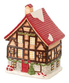 Loving this Red Roof Christmas House Décor on #zulily! #zulilyfinds