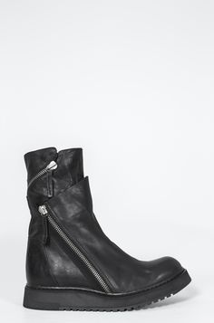 Cinzia Araia - Double spiral zip leather boot - orimono.eu 331846c1c34
