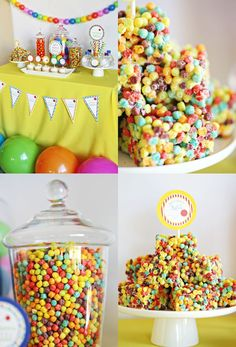 Party: Let's Have a Ball Party with - See Vanessa Craft Ball Theme Birthday, Bouncy Ball Birthday, Ball Theme Party, Bounce House Birthday, Bounce House Parties, Ball Birthday Parties, Birthday Fun, Birthday Ideas, Polka Dot Birthday