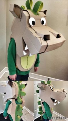 Cardboard dragon costume by Phil Streets