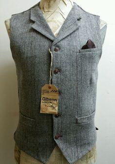 3 piece Check Tweed Suit by Gibson London NWT . RRP £329 Peaky Blinders 42r | eBay
