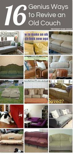 1000 ideas about couch redo on pinterest couch vintage sofa and chenille bedspread - Simple ways of revamping your old sofa ...