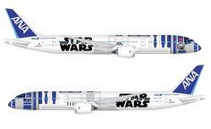 巨大すぎるR2-D2が空を飛ぶ!? ANA・ボーイング787-9の特別塗装機を初披露 | マイナビニュース